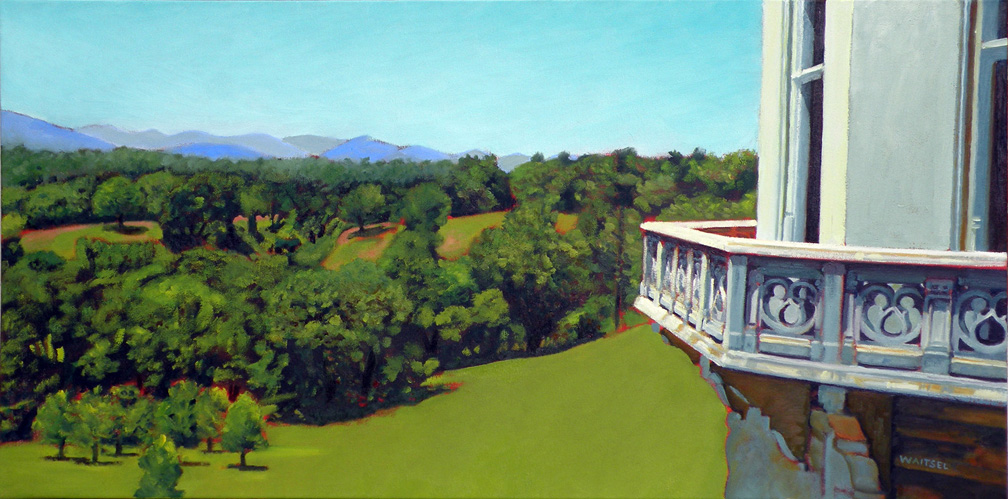 Biltmore Looking West- Original Oil Painting by Waitsel Smith